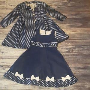 Bonnie Jean 2 piece Girls Dress, size 5